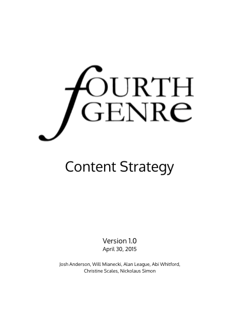 Fourth Genre Strategy Cover
