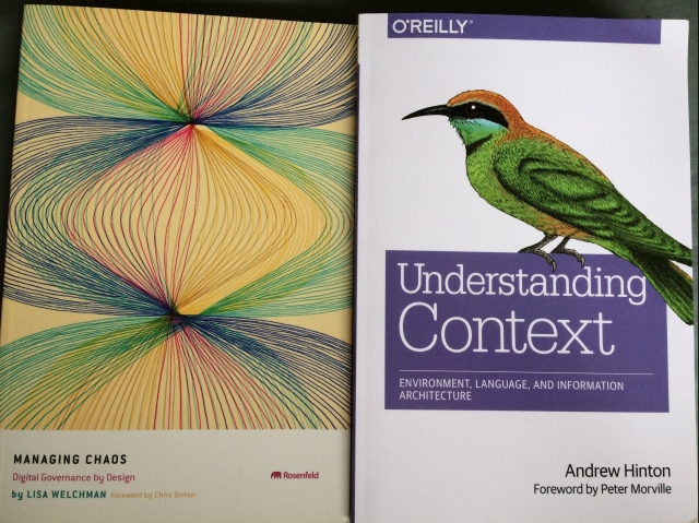 Information Architecture books, understanding context and managing chaos