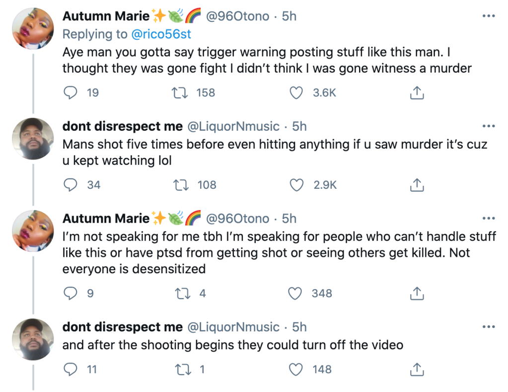 Twitter conversation about who is responsible for what they watch